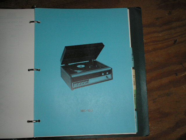 MC-50 Turntable Service Manual from a Turntable Service Binder