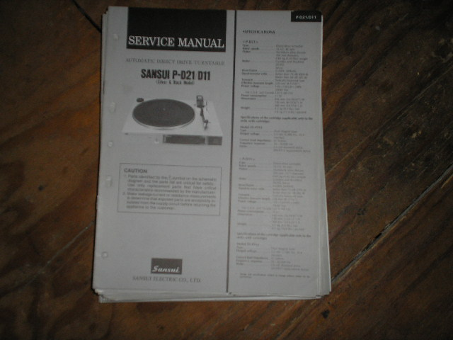 P-D11 P-D21 Turntable Service Manual