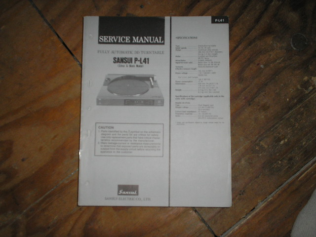 P-L41 Turntable Service Manual