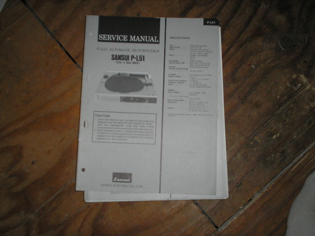 P-L51 Turntable Service Manual