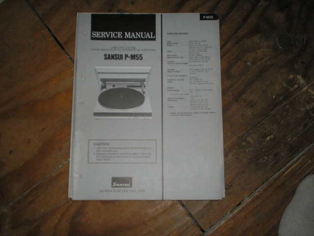P-M50  P-M55 Turntable Service Manual