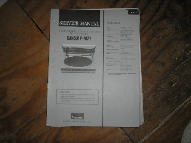 P-M70 P-M77 Turntable Service Manual