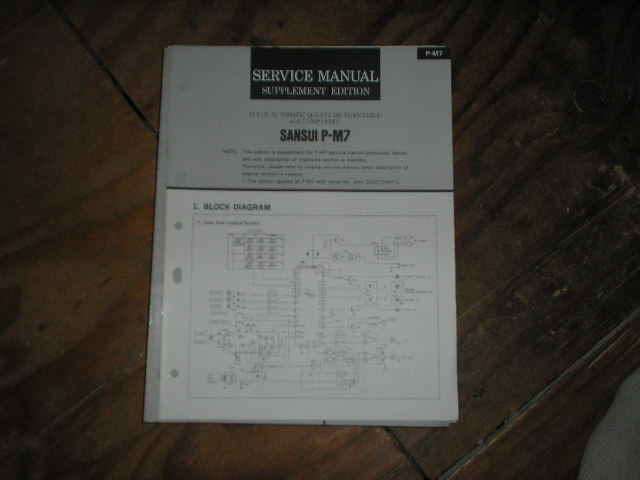 P-M7 Turntable Service Manual