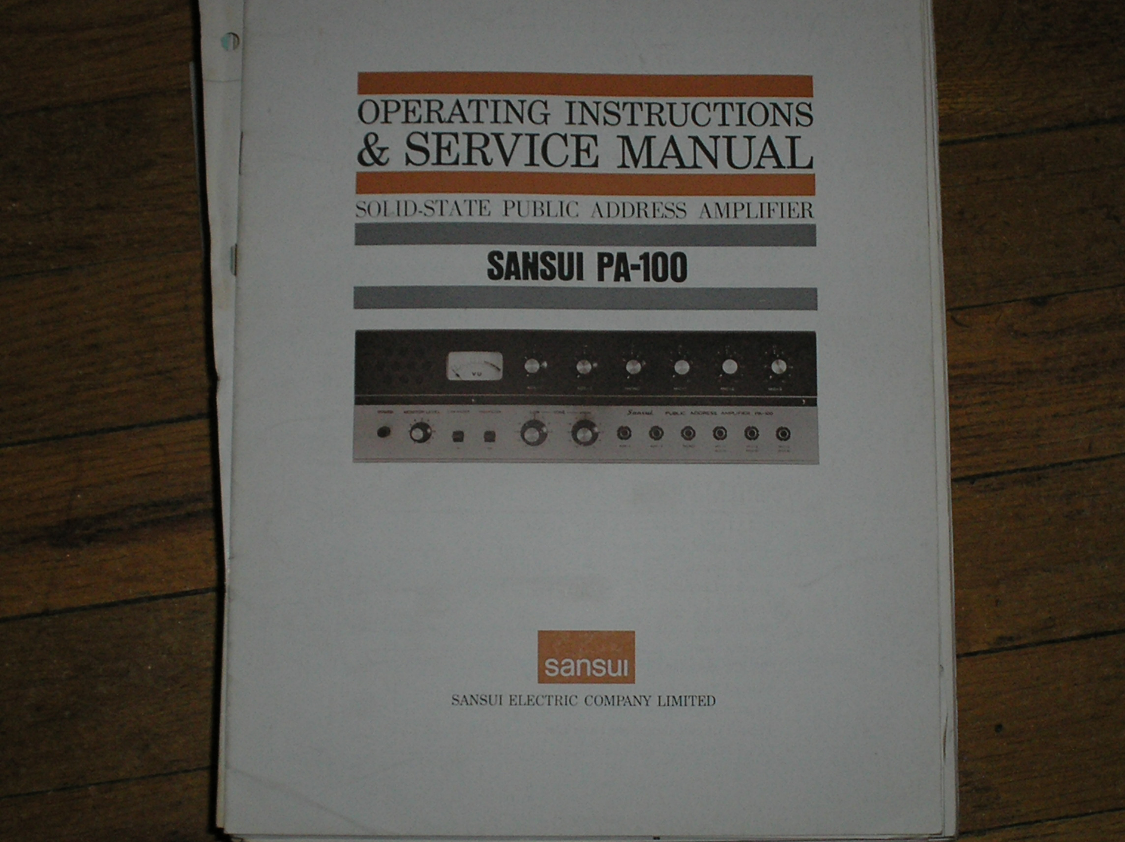 PA-100 Operating Instruction Manual