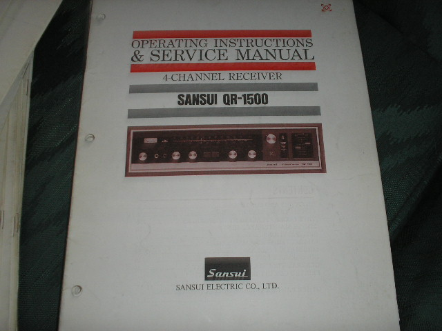 QR-1500 Receiver Operating Instruction Service Manual