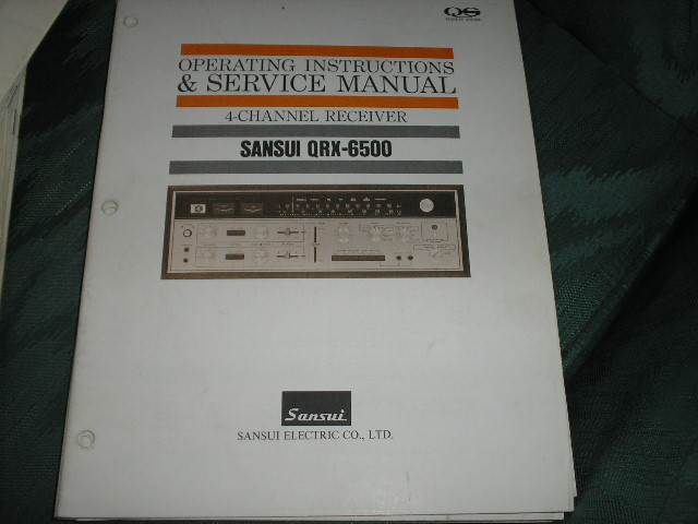 QRX-6500 Receiver Operating Instruction Service Manual