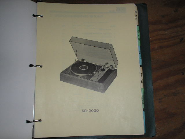 SR-2020 Turntable Service Manual from a Turntable Service Binder