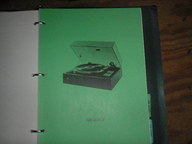 SR-2050 Turntable Service Manual from a Turntable Service Binder