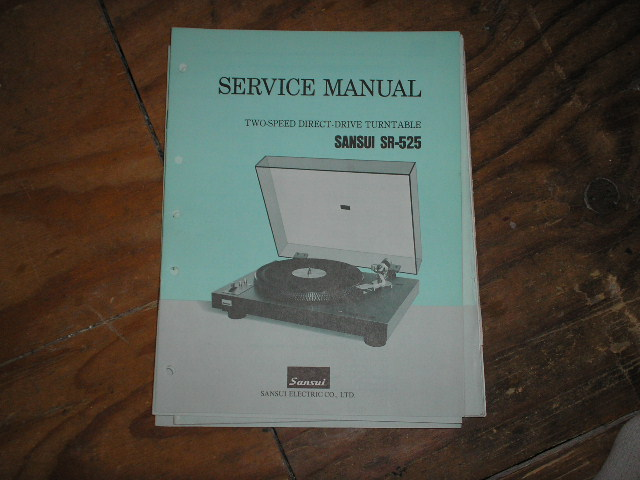 SR-525 Turntable Service Manual