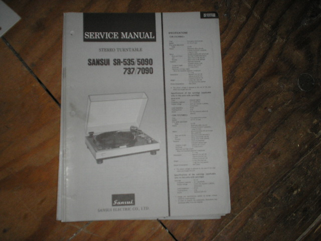 SR-535 SR-737 SR-5090 SR-7090 Turntable Service Manual