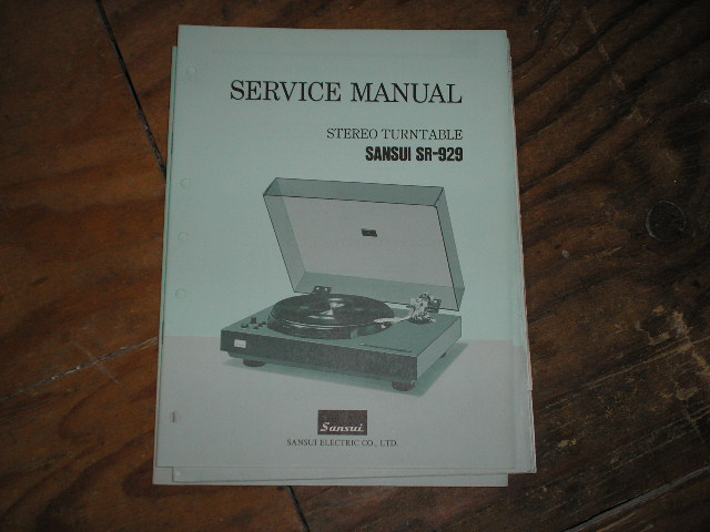 SR-929 Turntable Service Manual