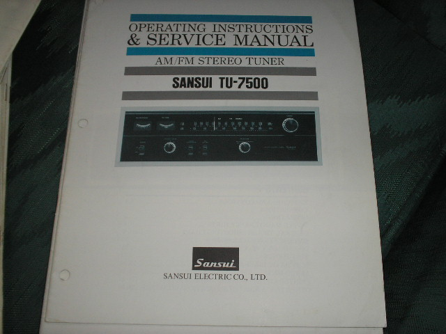 TU-7500 Tuner Operating Instruction Manual