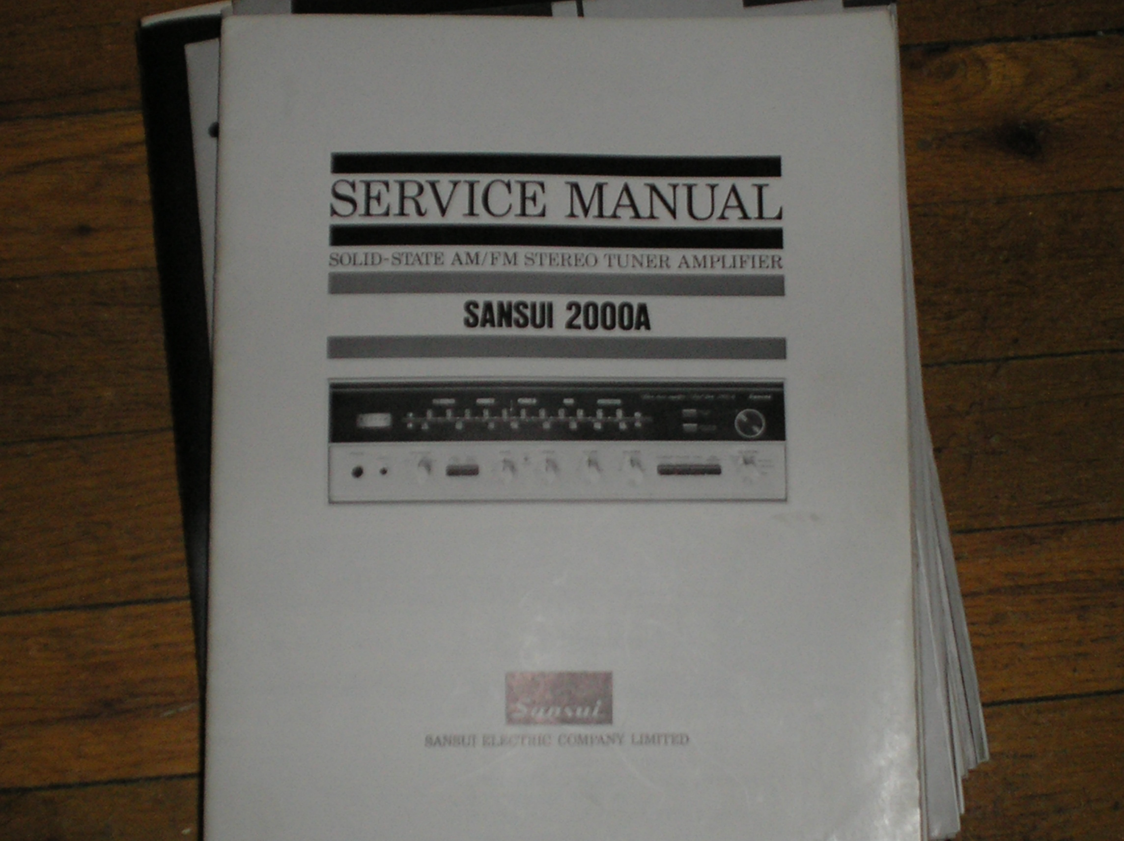 2000A Tuner Amplifier Service Manual