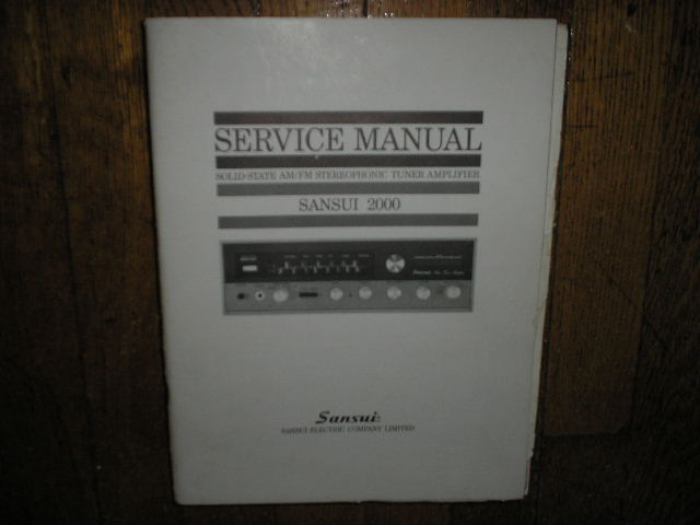 2000 Tuner Amplifier Service Manual