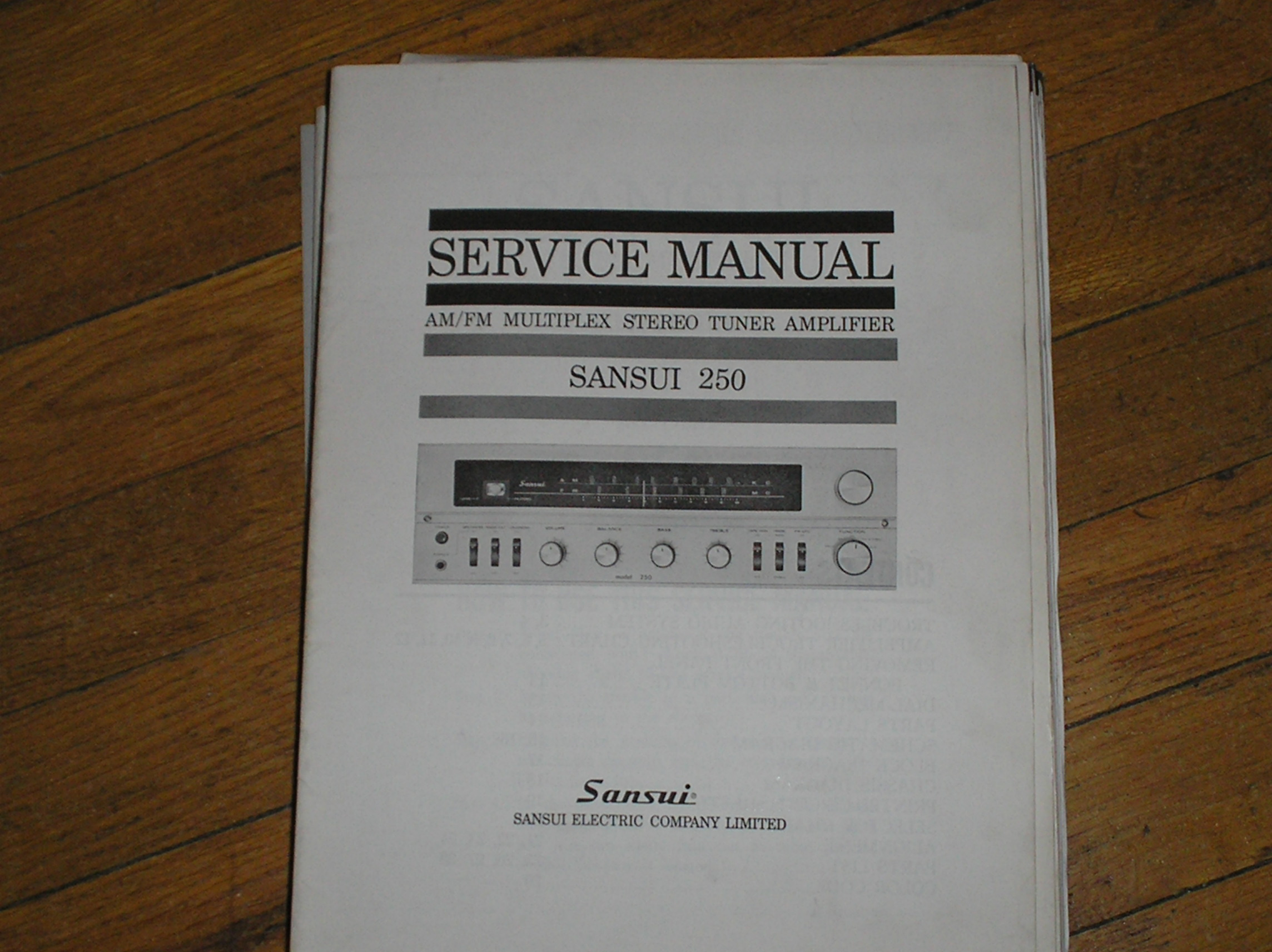 250 Tuner Amplifier Service Manual