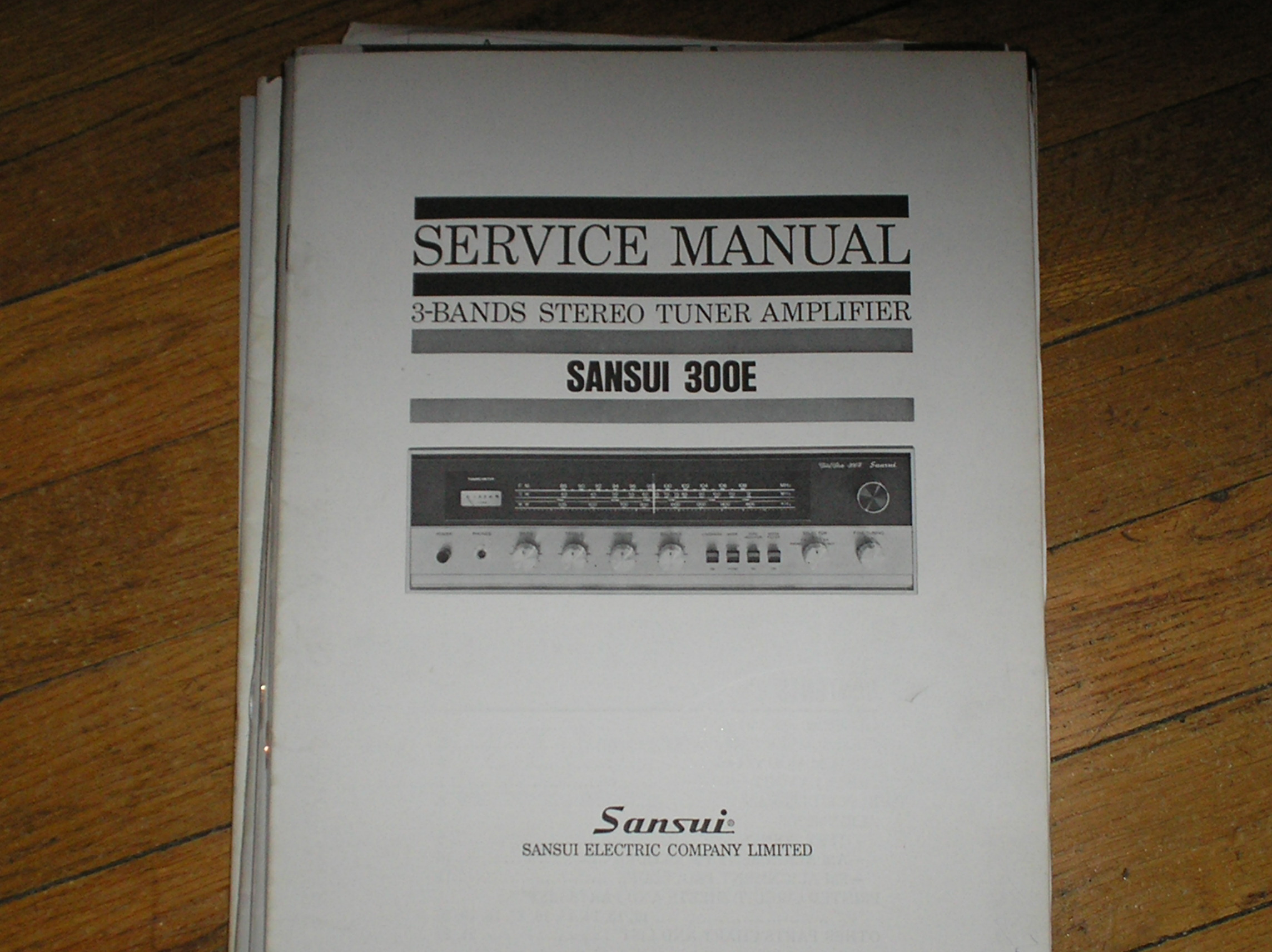 300E Tuner Amplifier Service Manual.. No Large schematic.