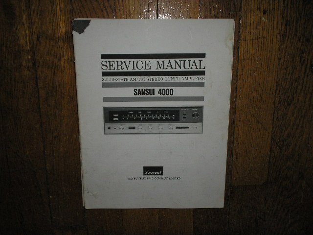 4000 Tuner Amplifier Service Manual