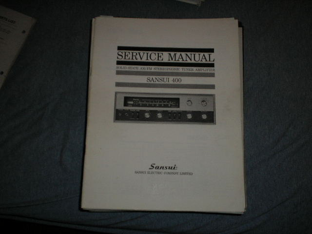 400 Tuner Amplifier Service Manual