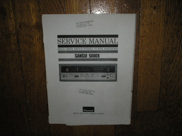 5000X Tuner Amplifier Service Manual