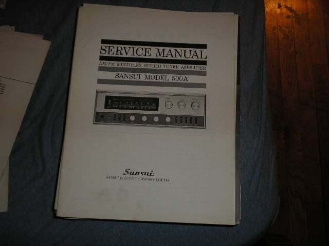 500A Tuner Amplifier Service Manual