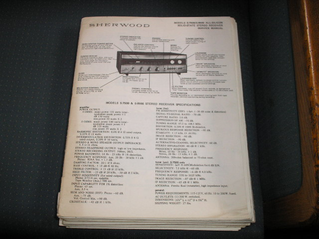 S-7500 S-8500 Receiver Service Manual Serial NO. A16001 and UP
