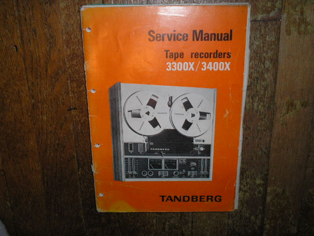 3300X 3400X Tape Recorder Service Manual