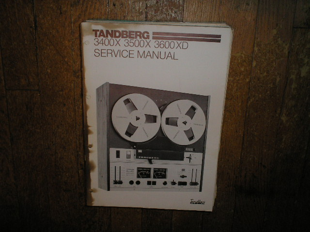 3400X 3500X 3600XD Tape Recorder Service Manual