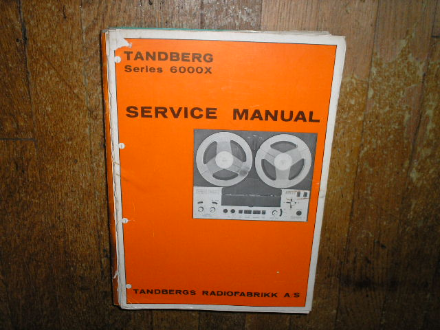 6000X Tape Recorder Service Manual