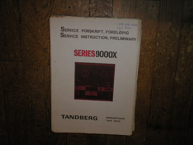 9000X Series Tape Recorder Service Manual 3