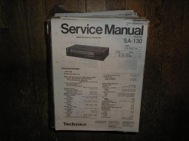 SA-130 Receiver Service Manual