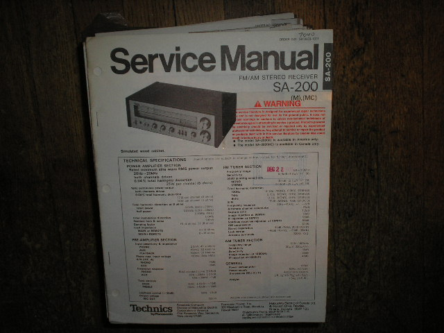 SA-200 Receiver Service Manual