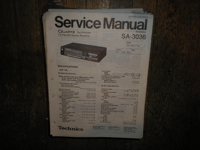 SA-3036 Receiver Service Manual