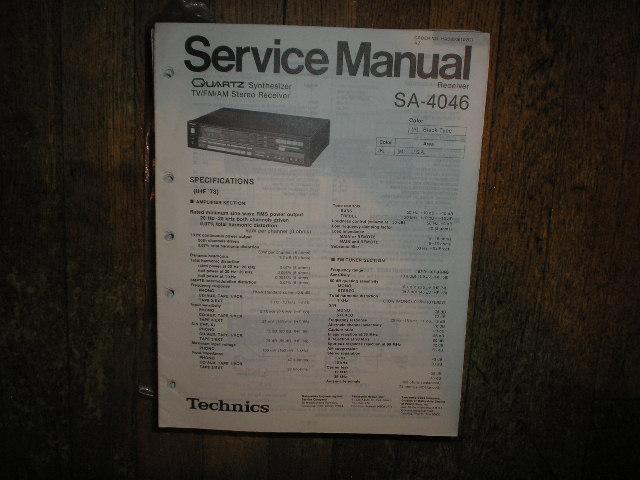 SA-4046 Receiver Service Manual