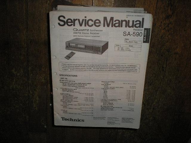 SA-590 Receiver Service Manual