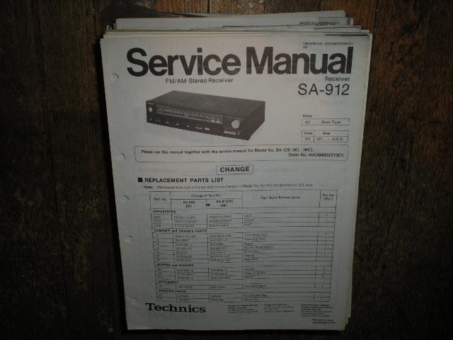 SA-912 Receiver Service Manual
