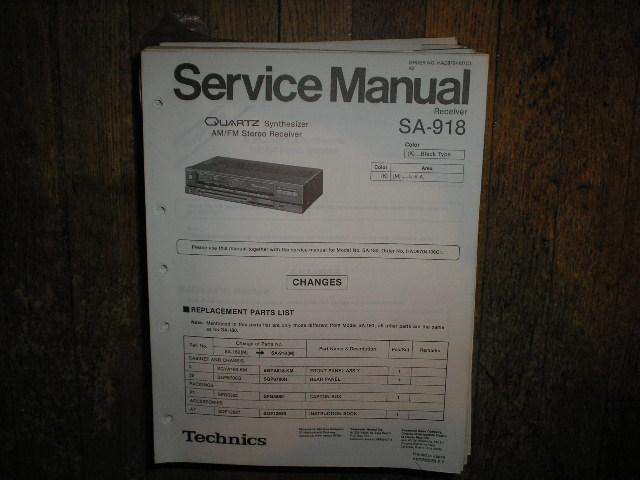 SA-918 Receiver Service Manual