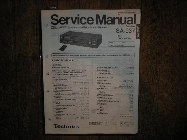 SA-937 Receiver Service Manual
