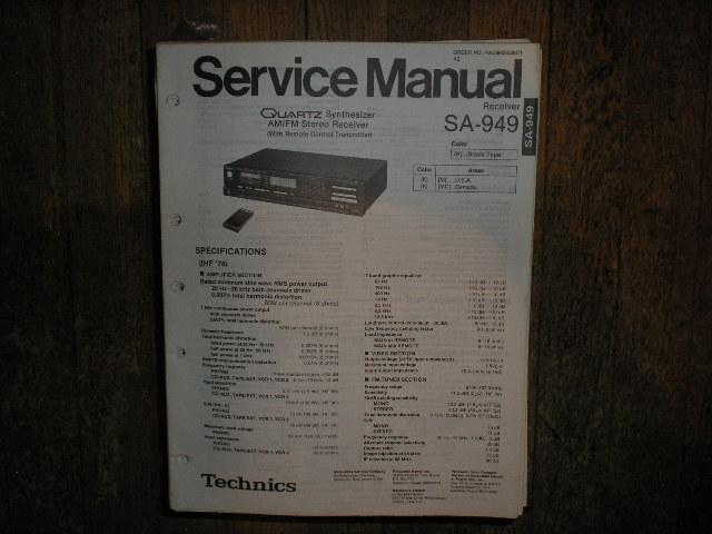 SA-949 Receiver Service Manual