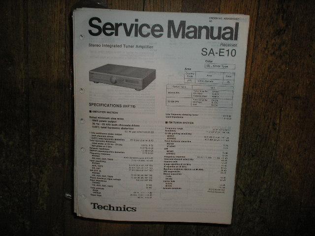 SA-E10 Receiver Service Manual