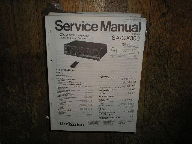 SA-GX300 Receiver Service Manual