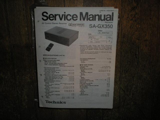 SA-GX350 Receiver Service Manual