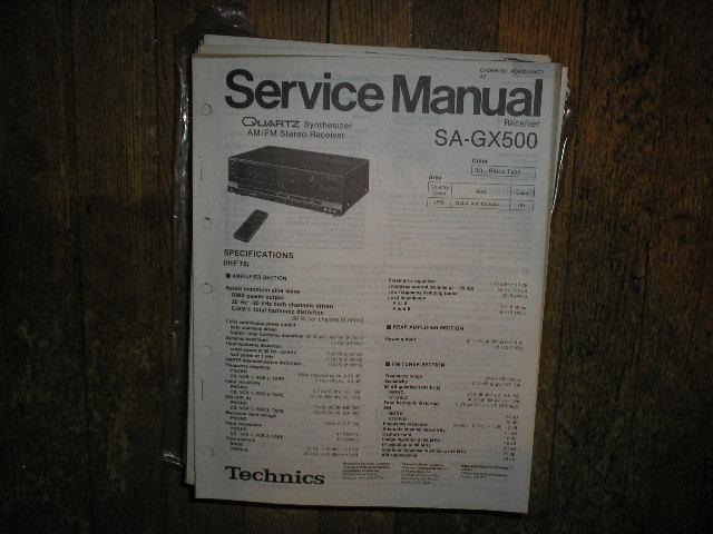 SA-GX500 Receiver Service Manual