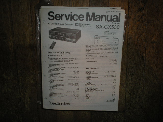 SA-GX530 Receiver Service Manual