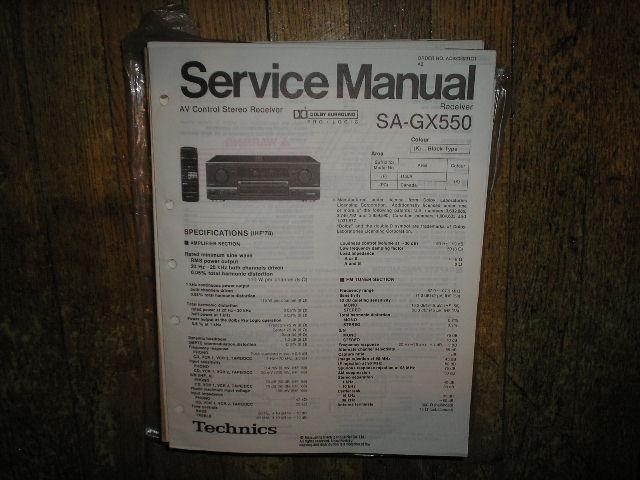 SA-GX550 Receiver Service Manual
