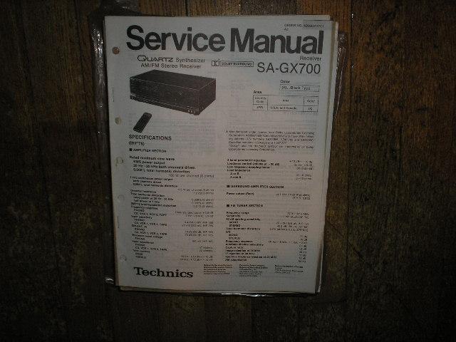 SA-GX700 Receiver Service Manual