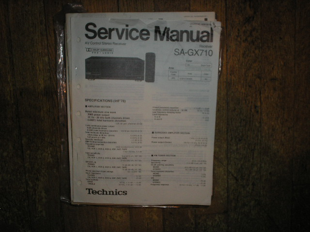 SA-GX710 Receiver Service Manual
