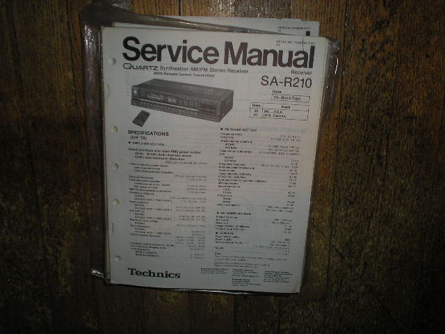 SA-R210 Receiver Service Manual