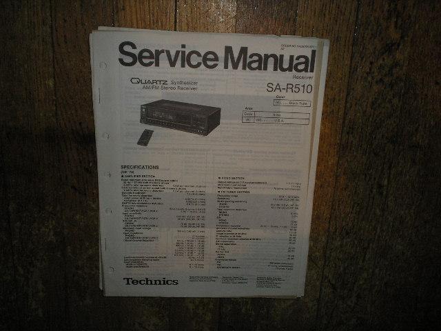 SA-R510 Receiver Service Manual