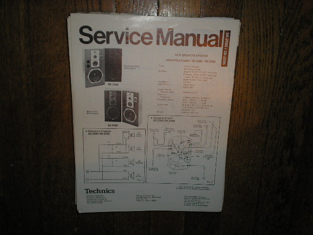 SB-2580 SB-2585 Speaker System Service Manual