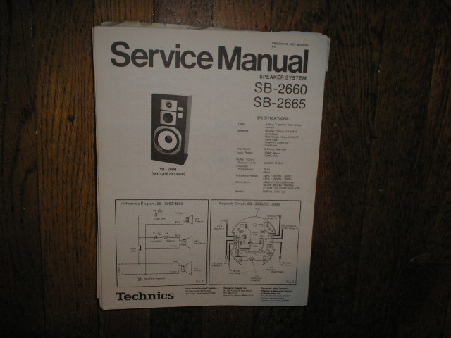 SB-2660 SB-2665 Speaker System Service Manual